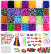 Loom Rubber Bands 11000pcs Rubber Band Refill Kit In 28 Colors With 600 S-clip