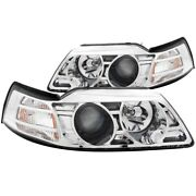 121043 Anzo Headlight Lamp Driver And Passenger Side New Lh Rh For Ford Mustang