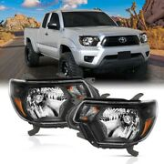 111395 Anzo Headlight Lamp Driver And Passenger Side New Lh Rh For Toyota Tacoma