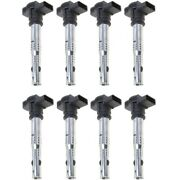 Set-wkp9212110-8 Walker Products Set Of 8 Ignition Coils New For Vw Beetle Jetta
