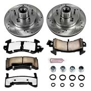 K1482-36 Powerstop Brake Disc And Pad Kits 2-wheel Set Front New For Chevy Olds
