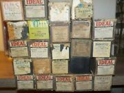 Lot Of 24 Antique Player Piano Rolls W/boxes Vintage Big Band Ideal Pianostyle +