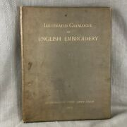 1905 Antique Book Exhibition Of English Embroidery Textiles Large Colour Plates