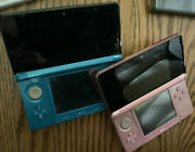 Nintendo 3ds Blue And Pink Console Plus Games, Boxes, Chargers, Games Case Lot