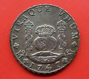 🔥uncirculated🔥silver 8 Reales Philip V Year 1747 Mint Mexico Assayers M.f