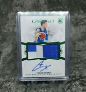 Tyler Herro Rookie Flawless Collegiate Rc Green 3/5 Jersey Autograph Card Rare