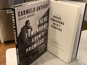 Carmelo Anthony Signed Book Where Tomorrows Arenand039t Promised Knicks Syracuse