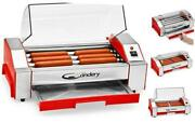 Hot Dog Roller - Sausage Grill Cooker Machine - 6 Hot Dog Capacity -