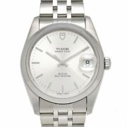 Auth Tudor Watch Date 74000n Automatic Case34mm Arm18cm Silver Ss F/s