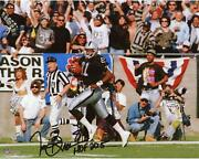 Tim Brown Oakland Raiders Signed 8 X 10 Running Photograph And Hof 2015 Insc