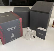 Waterford 2018 Clear Crystal Mini Christmas Tree Ornament 40031774 New In Box
