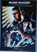 Blade Runner Signed Poster X3 - Harrison Ford, Ridley Scott, Sean Young 11x17