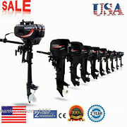 6-12 Hp 2-4 Stroke Outboard Motor Boat Engine Multi-models For Inflatable Boats