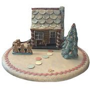 Sarahandrsquos Attic Limited Edition Gingerbread 5 Pc Lot House Fence Cookie Bench Tree