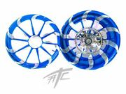 Candy Blue Contrast Cut Tornado Wheels - Choose Your Size And Bike