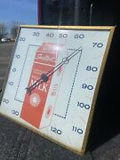 Vintage Sealtest Milk Square Thermometer Pam Clock Co. Inc New Rochelle N.y.
