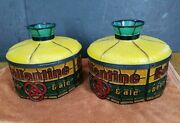 Vintage Very Rare Pair Of Ballantine Beer And Ale Lamps Lights