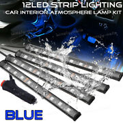 For Chevy Blue Color Bar Glow Dash Footwell Interior Light 5050 Led Strip Lamp