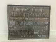 Antique Wood Automobile Assn Sign Early 1870's American Folk Art