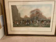 The Meet At Badminton - An English Print By William Giller. 41 X 31 Framed