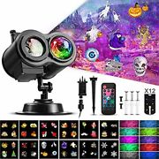 Halloween Christmas Projector Lights Samyoung 2-in-1 Ocean Wave Snowflake Led P