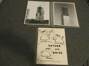1960s Nasa Msfc Saturn And Noise Book Cartoon On Test Stand + 2 B/w Orig Photos