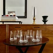6 Marc Newson 4.5 Inch Tall Highball Glasses For Iittala Acid Etched Signature