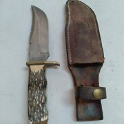Vintage Schrade Uncle Henry Pro Hunter 171uh Fixed Blade Hunting Knife 76655