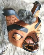 Northwest Coast First Nation Native Art Carved Grizzly Bear Mask Indigenous