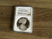 1995 Proof American Silver Eagle Ngc Pf70
