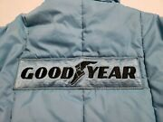 Vintage Goodyear Racing Jacket Large Official Apparel With Patches