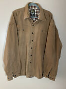 Bear River Workwear Menand039s Brown Canvas Snap Shirt Jacket Flannel Lined Size 3xl