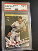 2017 Topps Holiday Aaron Judge Rookie Rc 99 Psa 10 Gem Mint