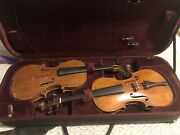 Two Beautiful Antique Violins For Restoration And Repair