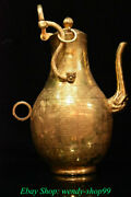 13 Rare Old China Copper Gold Dynasty Palace Dragon Beast Handle Wine Pot