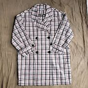 Opening Ceremony Pink Plaid Trench Coat L Nwt 495