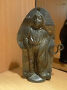 Chocolate Mold Molds Mould Vintage Antique Fisherman 4229
