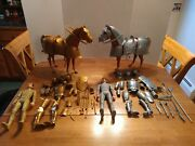 Marx Johnny West Noble Knights And Horses W/ Accessories Lot 1960's Nice