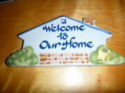 Louisville Stoneware Welcome To Our Home Ceramic Pottery Plaque