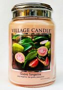 1 Village Candle Guava Tangerine Large 2-wick Classic Jar Candle 21.25 Oz