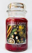 1 Village Candle Christmas Spice Large 2-wick Classic Jar Candle 21.25 Oz