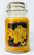 1 Village Candle Gingerbread Cookie Large 2-wick Classic Jar Candle 21.25 Oz