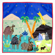 Patchwork Christmas Wall Hanging 19x19 From Peru Holiday Quilt Wall Art