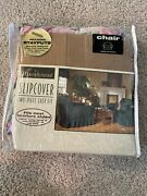 New Vintage Floral Slipcover 2 Piece Chair Cover Usa 100x90andrdquo Polyester 1994 Old