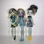Monster High Doll Lot Of 3 Abbey Bominable Frankie Stein X 2 With Clothes Shoes