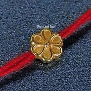 18k Solid Yellow Gold Fancy Heavy Flower Design Spacer Finding Bead