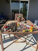 Lot Of 40 Antique Vintage Oil Lubrication Cans Bottles Grease Oiler Tin Lock
