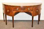 Antique Federal Bow-front Mahogany Sideboard - 200 Yrs Old