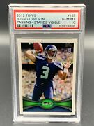 2012 Topps Russell Wilson 165 Passing Rookie Card Psa 10 Gem Mint Rc