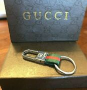Keychain Red And Green With Silver Hardware Super Fast Shipping W/out Box